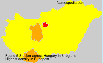 Surname Stricker in Hungary