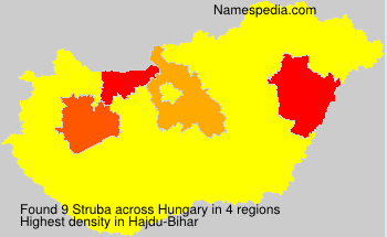 Surname Struba in Hungary