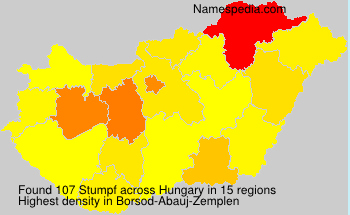 Surname Stumpf in Hungary