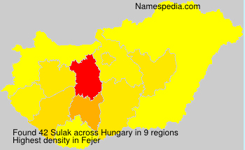 Surname Sulak in Hungary