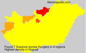 Surname Susanne in Hungary