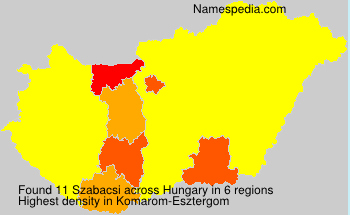 Surname Szabacsi in Hungary