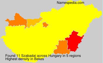 Surname Szabadai in Hungary