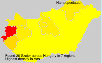 Surname Szajer in Hungary