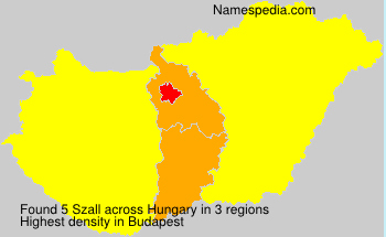 Surname Szall in Hungary