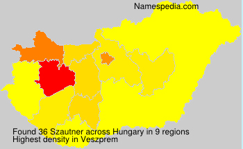 Surname Szautner in Hungary