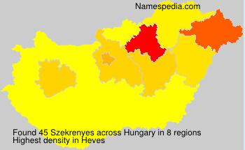 Familiennamen Szekrenyes - Hungary