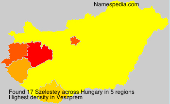 Surname Szelestey in Hungary