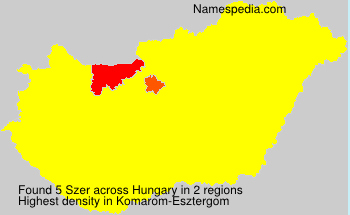 Surname Szer in Hungary