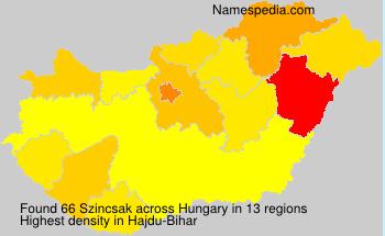 Familiennamen Szincsak - Hungary