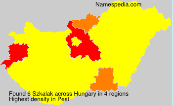 Surname Szkalak in Hungary