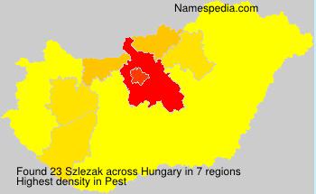 Familiennamen Szlezak - Hungary