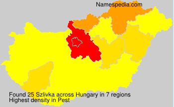 Surname Szlivka in Hungary