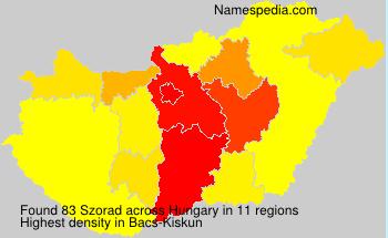 Surname Szorad in Hungary