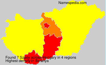 Familiennamen Szudy - Hungary