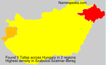 Surname Tallas in Hungary