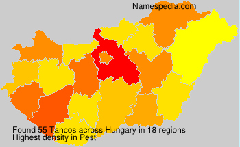 Familiennamen Tancos - Hungary