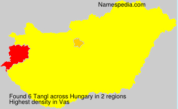 Surname Tangl in Hungary