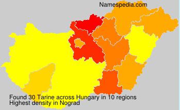 Familiennamen Tarine - Hungary