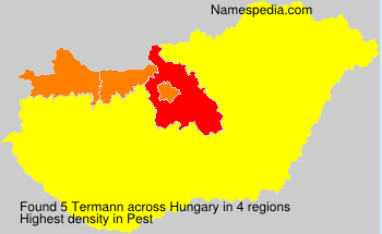 Surname Termann in Hungary