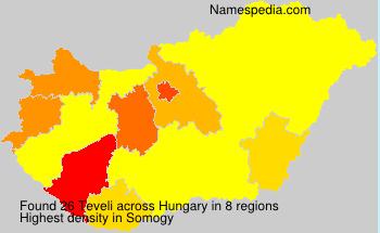 Surname Teveli in Hungary