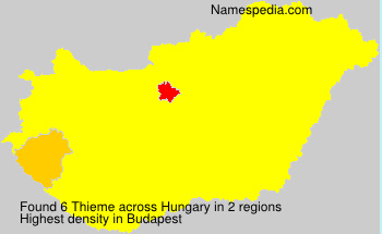 Surname Thieme in Hungary
