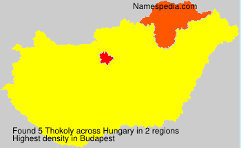 Familiennamen Thokoly - Hungary
