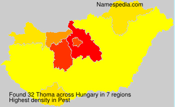 Surname Thoma in Hungary