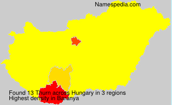 Surname Thurn in Hungary
