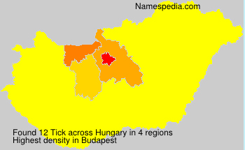 Surname Tick in Hungary
