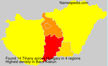 Surname Tihany in Hungary