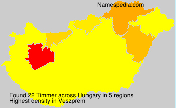 Surname Timmer in Hungary