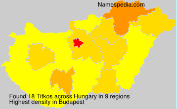 Surname Titkos in Hungary