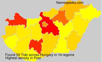 Familiennamen Tobi - Hungary
