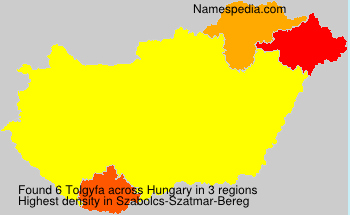 Surname Tolgyfa in Hungary