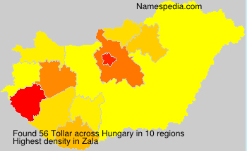 Surname Tollar in Hungary