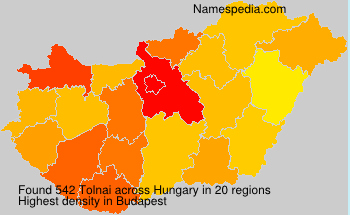 Surname Tolnai in Hungary