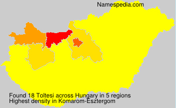 Surname Toltesi in Hungary