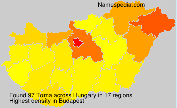 Surname Toma in Hungary