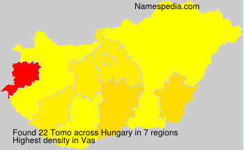 Surname Tomo in Hungary