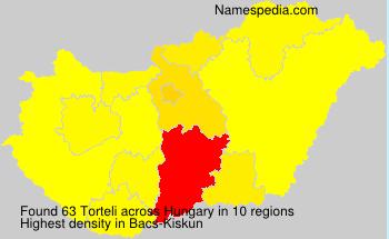 Familiennamen Torteli - Hungary
