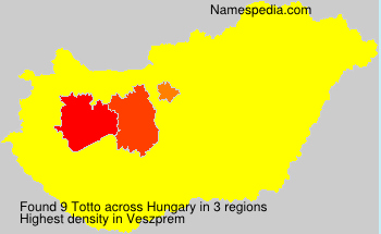 Surname Totto in Hungary
