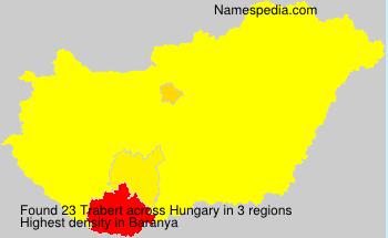 Familiennamen Trabert - Hungary