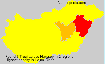 Surname Trasi in Hungary