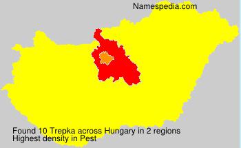 Surname Trepka in Hungary