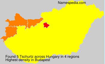 Surname Tschurtz in Hungary