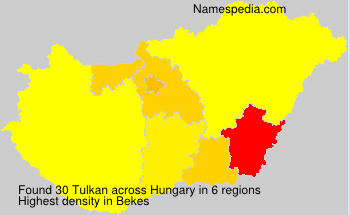 Surname Tulkan in Hungary