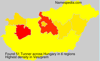 Surname Tunner in Hungary
