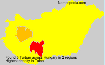 Surname Turban in Hungary