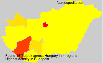 Surname Turbek in Hungary
